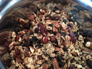 Pecan and maple granola